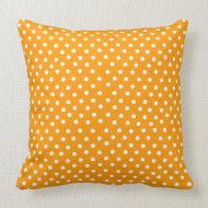 Orange and White Polka Dotted Cushion throwpillow