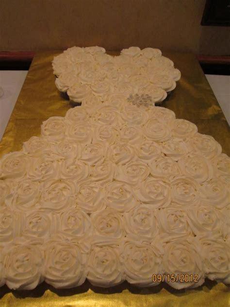 13 best images about Bridal shower wedding dress cupcake