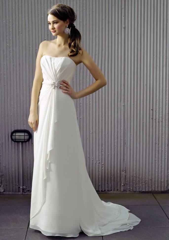 Vestido de novia discreto