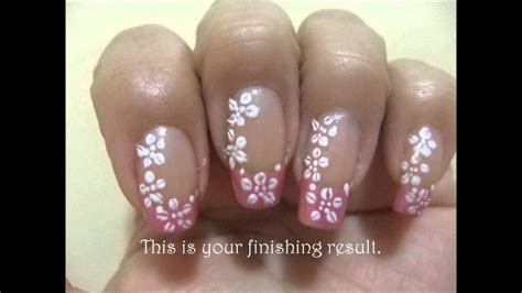Simple Bridal Nail Art Design   YouTube