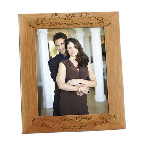10th Year Wedding Anniversary 8x10 Photo Frame