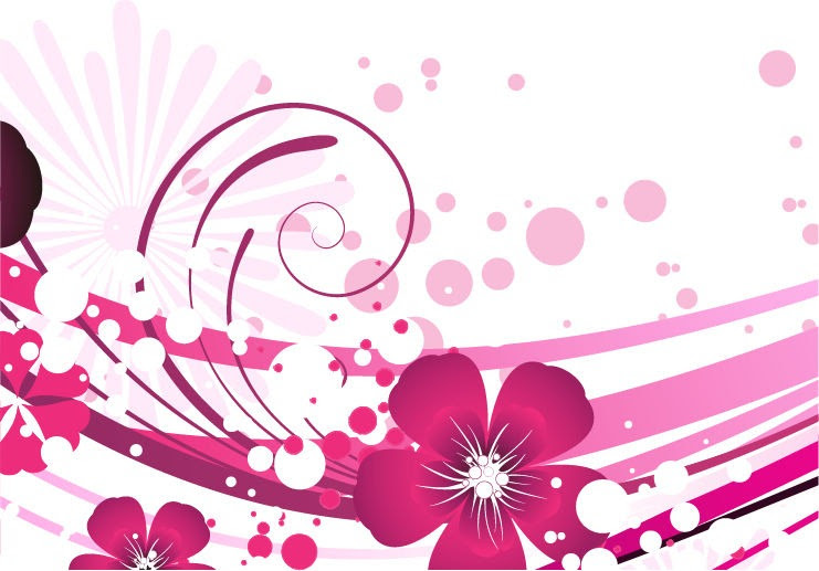Pink Flower Vector Background Free Vector Graphics All Free