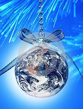 World Christmas Ornament Earth