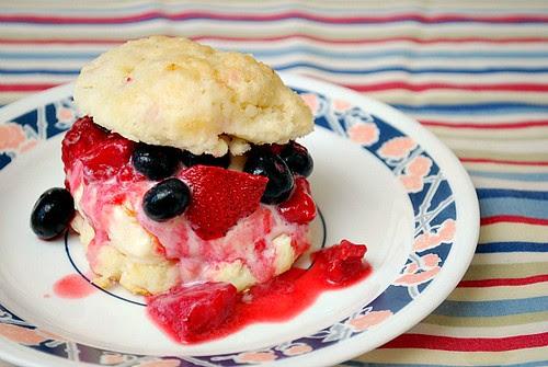 Mixed Berry Ice Cream Shortcakes