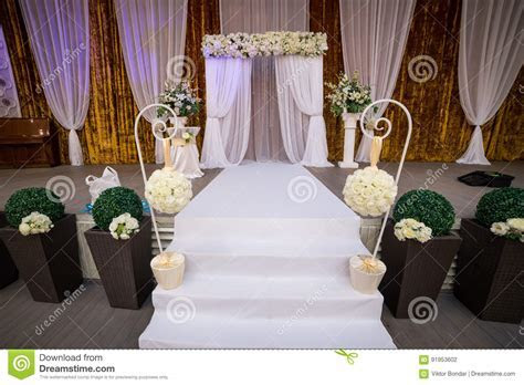 Indoor Wedding Reception Hall Royalty Free Stock Image