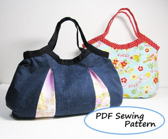 PDF Sewing Pattern - 2 Kinds of Granny Bag -