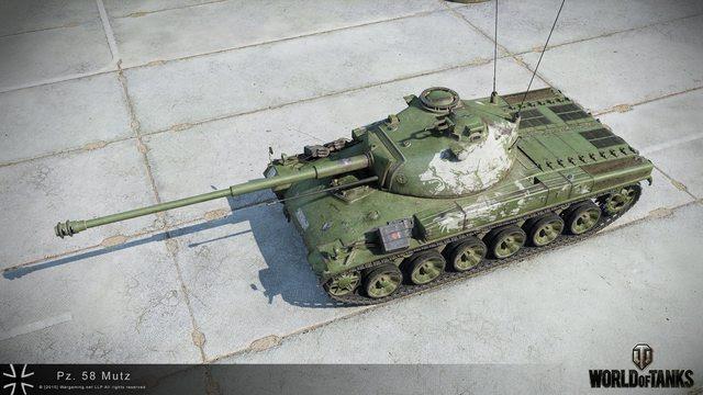 "World of Tanks Panzer 58 ""Mutz"" version pictures | MMOWG.net"
