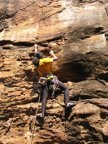 Badami Rock Climbing Divya