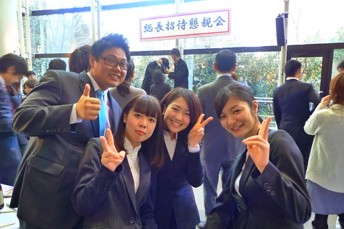 At the Waseda cultural awards ceremony 2