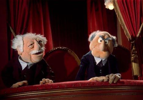 Zwei vom show die balkon muppet Muppets Opas