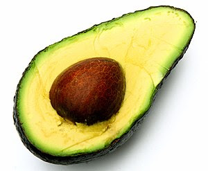 English: avocado open