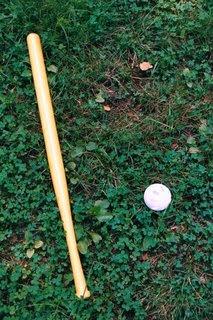 Wiffle bat and ball