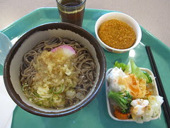 Soba + tempura + salad
