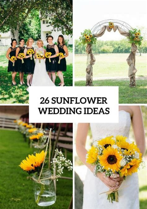 26 Ideas To Incorporate Sunflowers Into Your Big Day