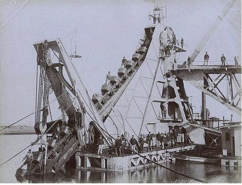 Image result for 1880 dredging machine