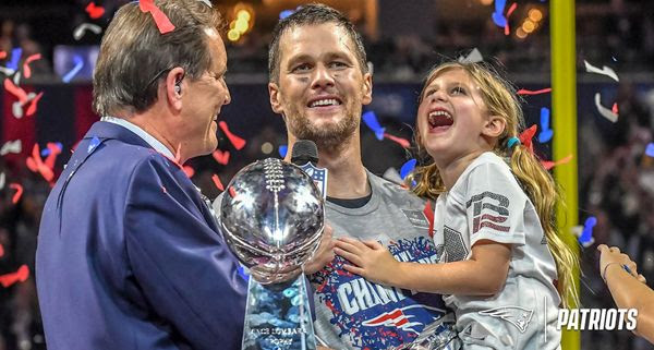 Tom Brady won his sixth championship ring after the New England Cheatriots defeated the L.A. Rams, 13-3, in Super Bowl 53...on February 3, 2019.