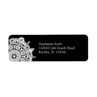 Elegant Ornament White/Black Avery Label label