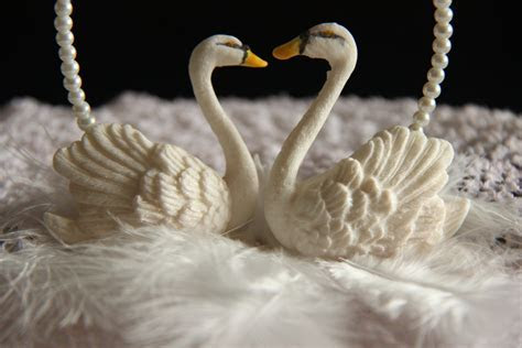 Wedding swans Edible Cake decoration. Hand painted.sugar