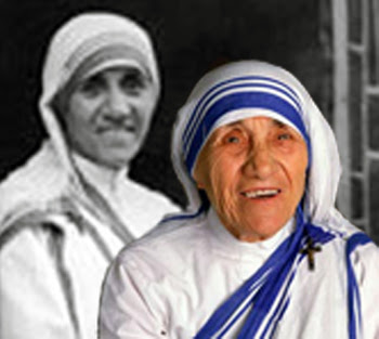 Mother Teresa young and old