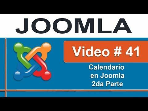 Insertando calendario para eventos y actividades en Joomla 2da parte