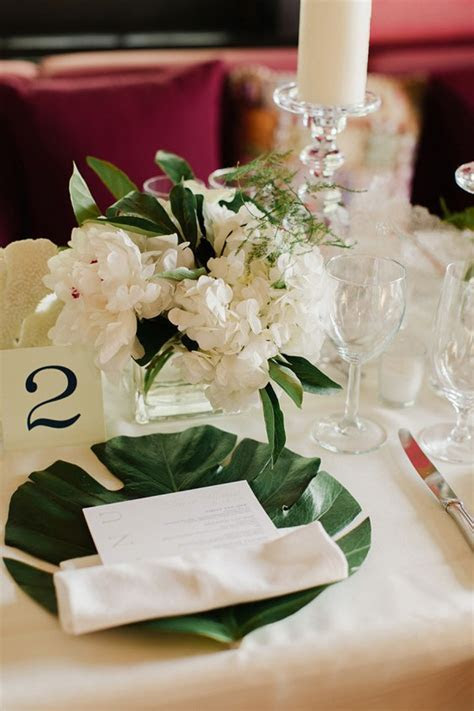 50 Green Tropical Leaves Wedding Ideas ? Page 10 ? Hi Miss