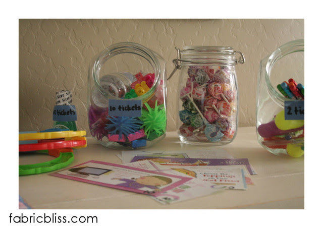 chore store jars of goodies