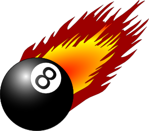 Ball With Flames 3 Clip Art