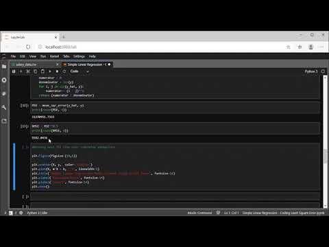 Simple Linear Regression - Coding Least Square Error | NerdML