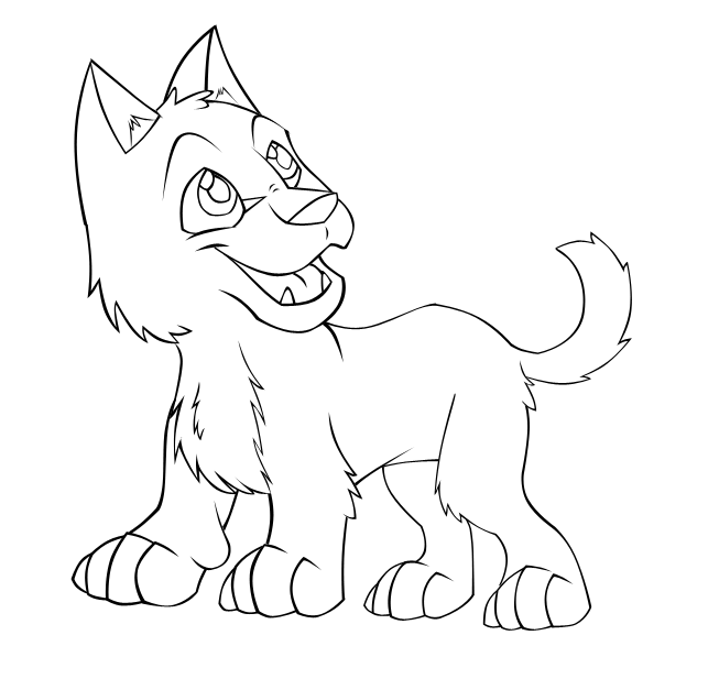Baby Wolves Coloring Pages at GetColorings.com | Free ...
