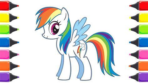 pony rainbow dash boyama renkleri oegreniyorum