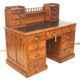 Antique Pitch Pine Teachers Desk