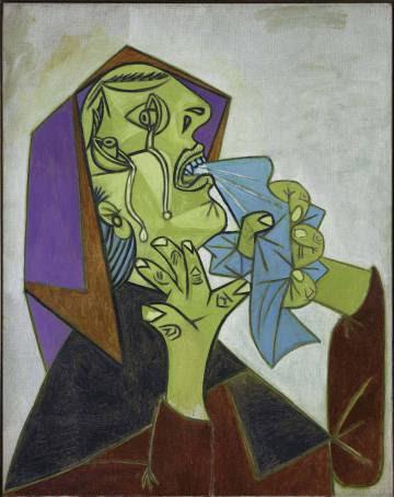 'Cabeza de mujer llorando con pañuelo III', de Picasso.
