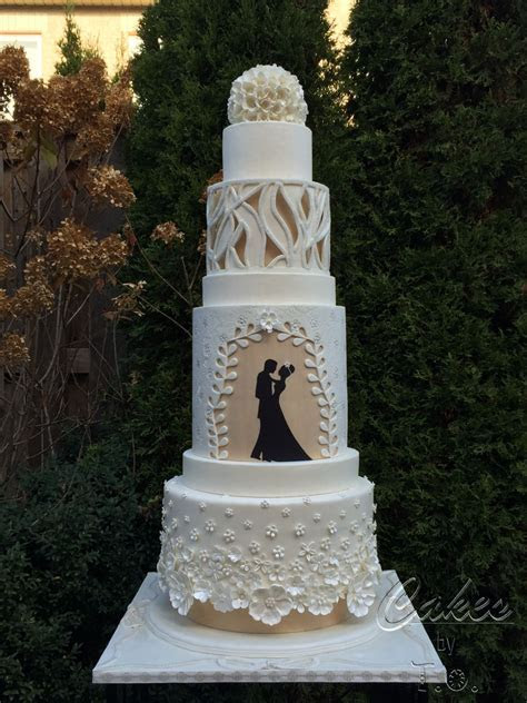Modern Wedding Cake Inspired By Fashion   CakeCentral.com