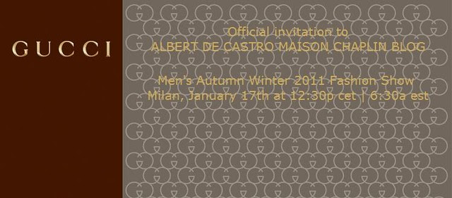 Gucci Men's Winter 2012 Show Live Stream