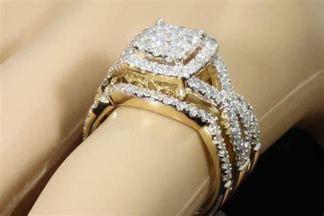 10K YELLOW GOLD 2 CARAT WOMENS DIAMOND ENGAGEMENT RING