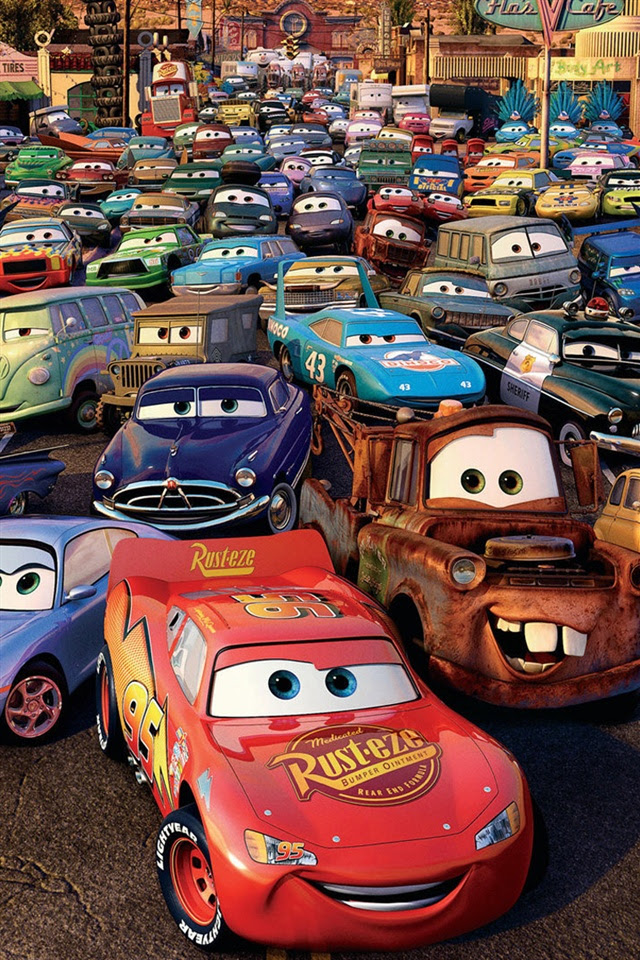 Cars 2, 3D movie iPhone X 8,7,6,5,4,3GS wallpaper download  iWALL365.com