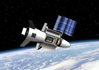 Artist concept of the OTV in Earth orbit, as originally envisioned by NASA.
