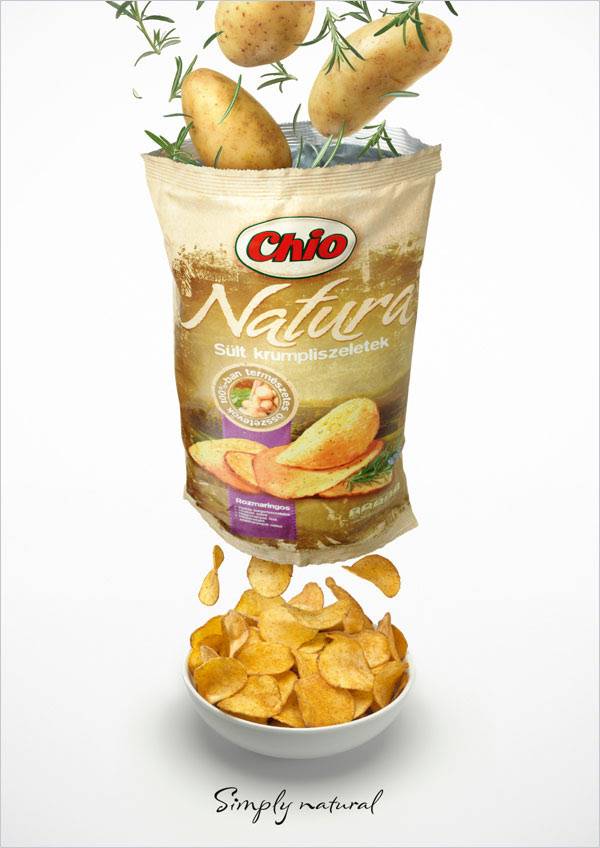 Chio Natura potato chips Packaing 30+ Crispy Potato Chips Packaging Design Ideas
