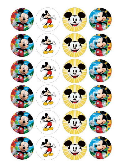 Mickey Mouse Edible Cupcake Toppers Viparty