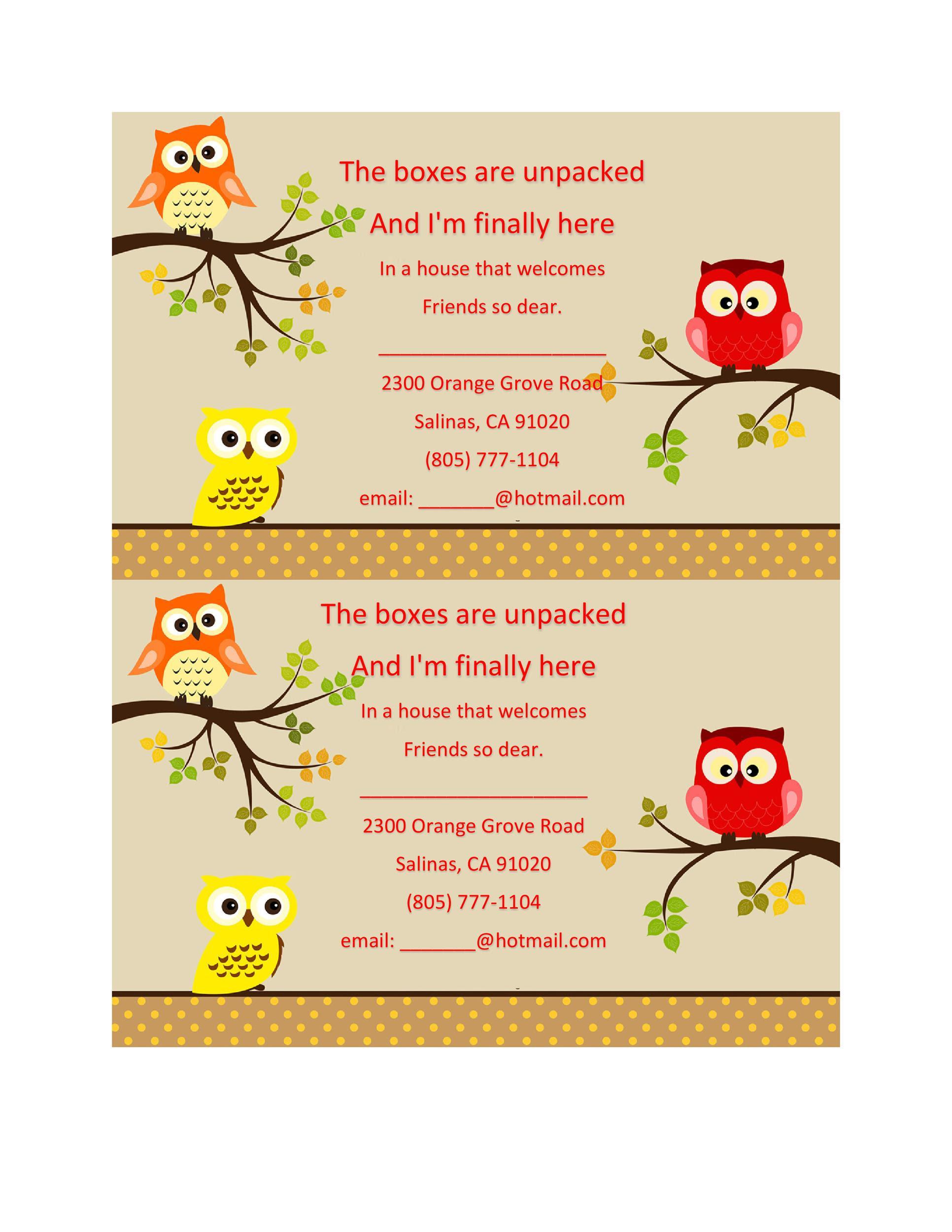 House Warming Ceremony Invitation Card Templates | PDF ...