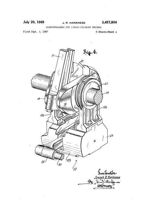 Patent US3457804 - Counterbalance for single-cylinder