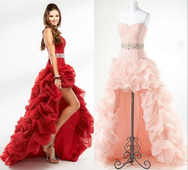 Designer evening dresses red
