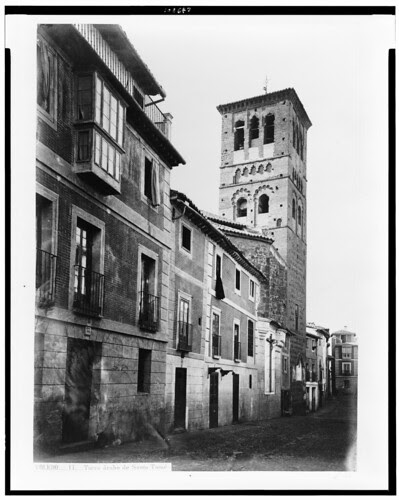 Iglesia de Santo Tomé (Toledo) en el siglo XIX. Fotografía de Jean Laurent. The Library of Congress of the United States of America