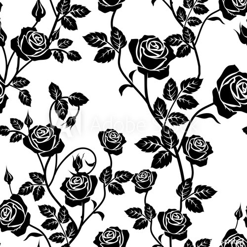 Black And White Rose Vector At Getdrawingscom Free For Personal