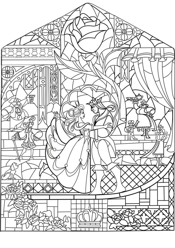Image for Brilliant Christmas Stained Glass Coloring Pages ... | 1041x736