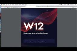 W12 Token ICO: Cryptocurrency & Blockchain Marketplace