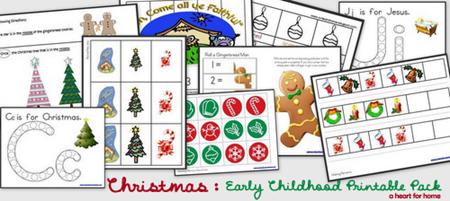 Imprimibles Navidad - Paquete de la Primera Infancia