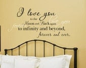 I love you to the moon and back Vinyl Wall Decal - landbgraphics
