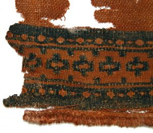 Cotton textile with blue décor in tapestry, Karanog (Lower Nubia, c. 100-200 CE)