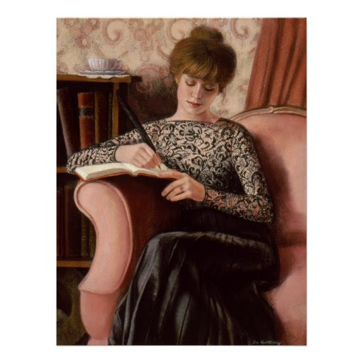 Victorian Lady Art Black Lace Elegant Decor Poster from Zazzle.